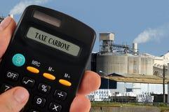 Berechnung der Kohlenstoffsteuer lizenzfreies stockfoto