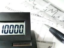 Berechnung von Gewinn- und Verlust Stockfotografie