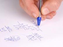 Berechnungen Stockfoto