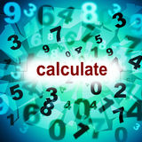 Berechnungs-Mathematik stellt eine zwei drei und Mathe dar Stockfotos