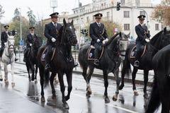 Bereden politie van Tsjechische Republiek op militaire parade royalty-vrije stock afbeeldingen