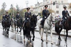 Bereden politie van Tsjechische Republiek op militaire parade royalty-vrije stock fotografie