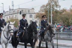 Bereden politie van Tsjechische Republiek op militaire parade royalty-vrije stock foto