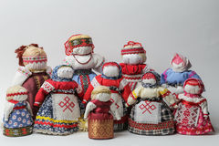 Bereginya-Puppen - handgemachte Puppen stockfoto