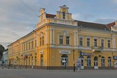 Berehove centrum miasta Zakarpattia, Ukraina zdjęcia stock