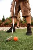 Bereich auf Recht, Text für Golfausflüge oder -reklameanzeigen hinzuzufügen stockfoto