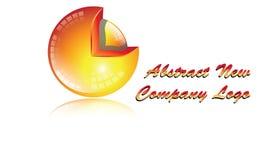 Bereich 3D Logo Orange-Farbe Lizenzfreie Stockbilder
