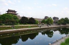 Bereich der Südostecke der Stadtmauern Stockbilder