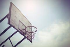 Bereich des Basketballkorbes öffentlich Stockbild