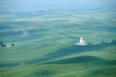 Bereich des grünen Hügels Stockfotografie