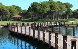 Bereich des Sueno Golfclubs. Stockfoto
