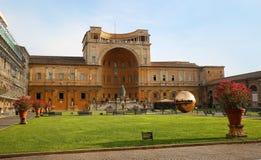Bereich innerhalb des Bereichs an Cortile-della Pigna in Vatikan Lizenzfreie Stockfotografie