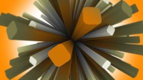 Bereich von 3D quadriert abstrakte Animation vektor abbildung