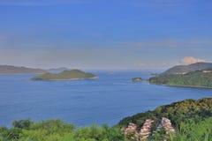 Bereich von Silverstrand von sai kung HK lizenzfreies stockbild