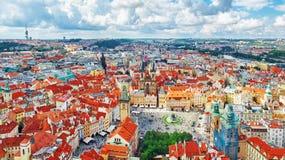 Bereichs-alte Stadt von Prag, über Mitte der Stadt Tschechische Republik Stockfoto