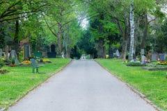Bereichs-Kirchhof-Mittags-Donnerstags-Frühling Pragfriedhof innerer Wal 2017 lizenzfreies stockbild