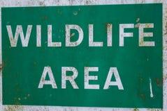 Bereichs-Zeichen der wild lebenden Tiere Stockfoto