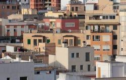 Bereichsdetailansicht mit hoher Dichte in Palma de Mallorca Stockfoto