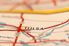 Bereichskarte Tulsas Oklahoma Lizenzfreies Stockfoto