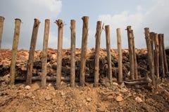 Bereid land voor bouw voor en bescherm landsli Royalty-vrije Stock Foto