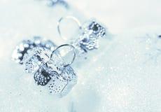 Bereifte Dekorationen für Weihnachten Lizenzfreies Stockfoto