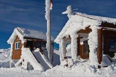 Bereifte Hütte Stockbilder