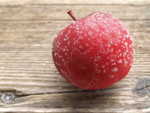 Bereifter Apfel Stockfoto