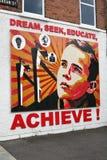 Bereik Muurschildering in Belfast Noord-Ierland Stock Afbeeldingen