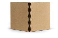 Bereiten Sie Abdeckungspapier-Notizbuchstellung, auf weißem backgroun mit Cl auf Lizenzfreies Stockbild