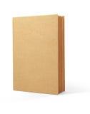 Bereiten Sie die Buchbraunabdeckung auf, die auf weißem backgro getrennt wird Stockfotografie