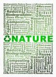 Bereiten Sie die Wörter auf, die mit Naturworthöhepunkt in Verbindung gestanden werden Lizenzfreies Stockfoto