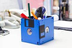 Bereiten Sie Diskette auf, die kreativen benutzten Gegenstände Lizenzfreies Stockbild