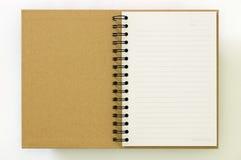 Bereiten Sie erste Seite des Papiernotizbuches auf Stockbilder