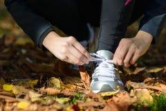 Bereiten Sie für das Laufen vor Lizenzfreie Stockfotos