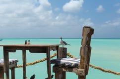 Bereiten Sie für das Mittagessen in Aruba vor Stockfotografie