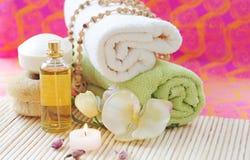 Bereiten Sie für eine Massage vor Stockbilder