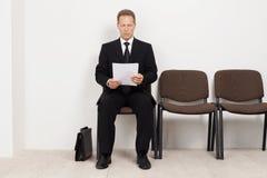 Bereiten Sie für Interview vor. Stockbild