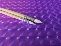 Bereiten Sie für purpurrote Malerei vor Lizenzfreie Stockfotos