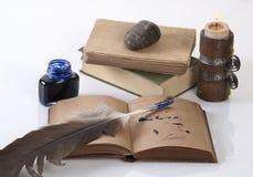 Bereiten Sie für Set der alten Art des Schreibens vor Lizenzfreies Stockbild