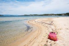 Bereiten Sie für Sommerferien auf dem Strand vor Stockbilder