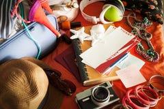 Bereiten Sie für Sommerferien vor Stockfotos