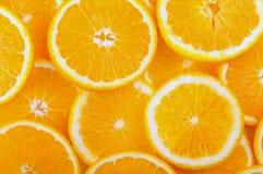 Bereiten Sie für einen Text vor saftige Scheiben der Orange Stockbild