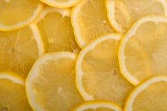 Bereiten Sie für einen Text vor saftige Scheiben der Zitrone Stockfoto
