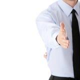 Bereiten Sie vor, um ein Abkommen über weißem Hintergrund einzustellen lizenzfreies stockfoto