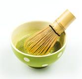 Bereiten Sie vor, um japanisches matcha zu trinken Lizenzfreies Stockfoto