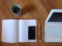 Bereiten Sie vor, um - sauberes Work Space zu bearbeiten stockfoto