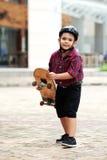 Bereiten Sie vor, um Skateboard zu fahren Lizenzfreies Stockfoto