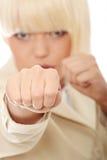 Bereiten Sie vor, um zu kämpfen lizenzfreies stockbild