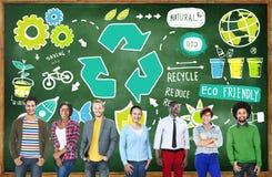 Bereiten Sie Wiederverwendung verringern Bio-freundliches Umwelt-Konzept Eco auf Lizenzfreies Stockbild
