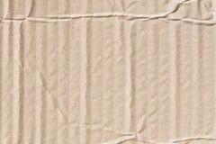 Bereiten Sie zerknitterte Beschaffenheit des braunen Papiers, alte Papieroberfläche für backg auf Stockbilder